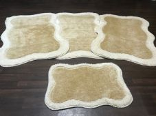ROMANY WASHABLES TRAVELLER MATS FULL SETS OF 4  NEW LIGHT BEIGES/CREAM 80X120CM